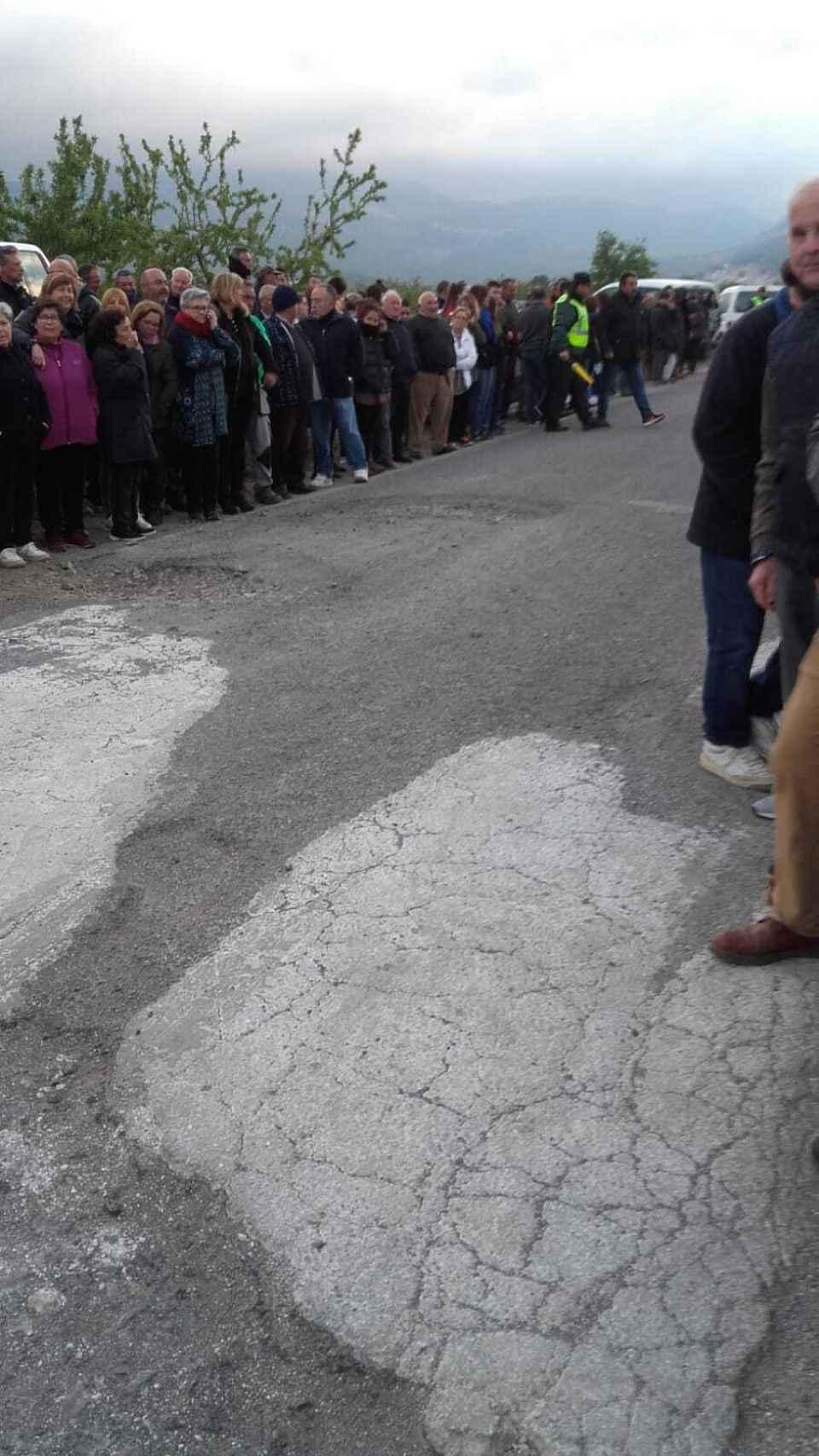 Protestas de los vecinos de Benizar por el estado del Camino Rural de Socovos.