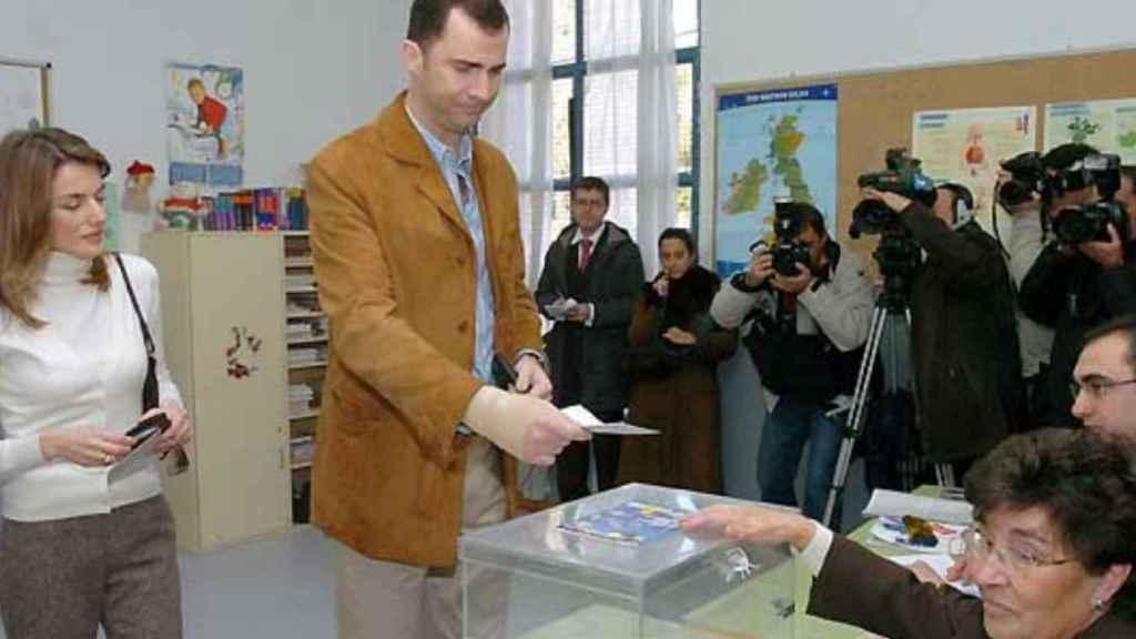 Felipe y Letizia votaron en 2005 para refrendar la Constitución Europea. Desde entonces, no han vuelto a votar