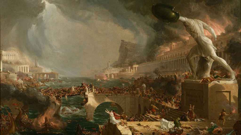 'Destruction', el cuadro de Thomas Cole que retrata un saqueo de Roma.