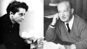 Hannah Arendt y Martin Heidegger.
