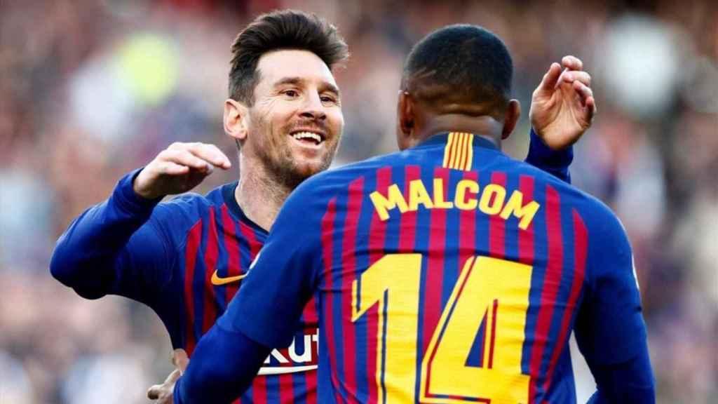 Malcom y Messi