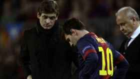 Tito Vilanova y Leo Messi