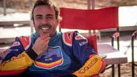 Fernando Alonso durante los test con el Toyota del rally Dakar