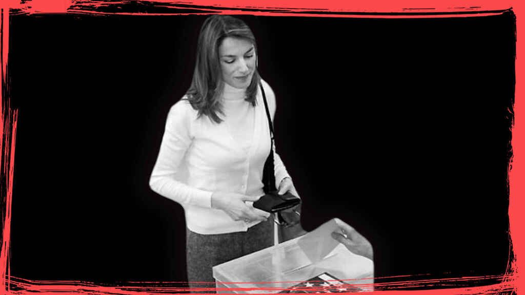 Letizia votando en 2005, la última -y única vez- que ha votado desde que se anunció su compromiso con Felipe