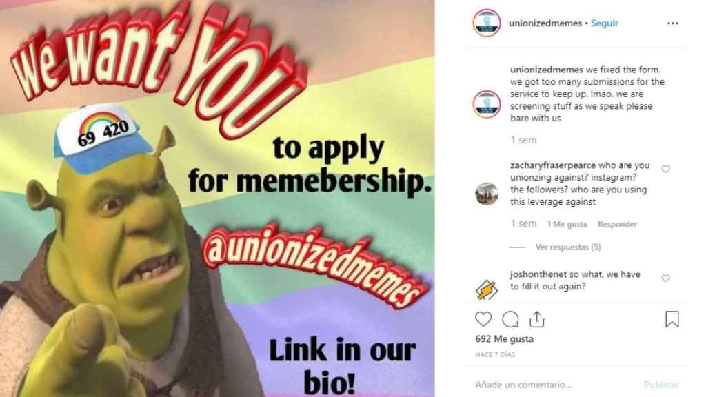 Nace el sindicato que exige cobrar por hacer 'memes' de Instagram