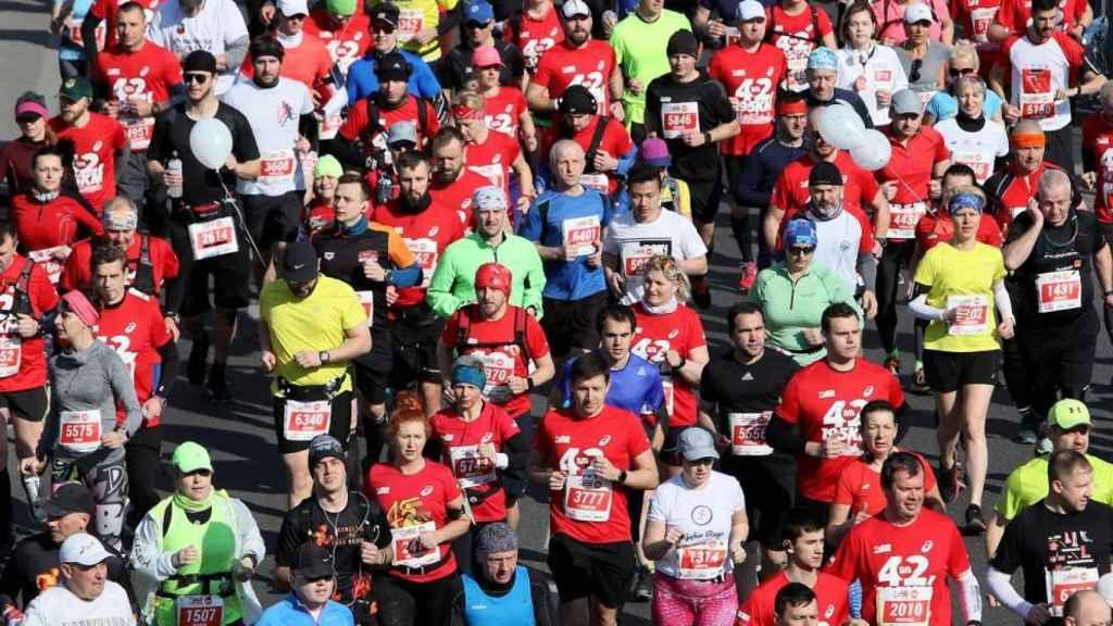 Corredores en una maratón.