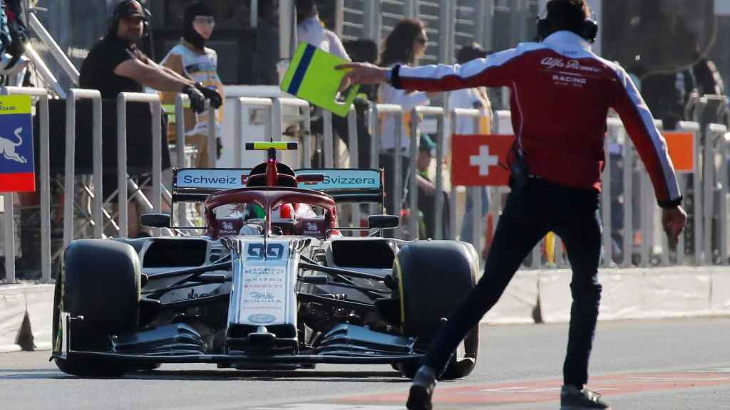 Giovinazzi en el GP de Azerbaiyán