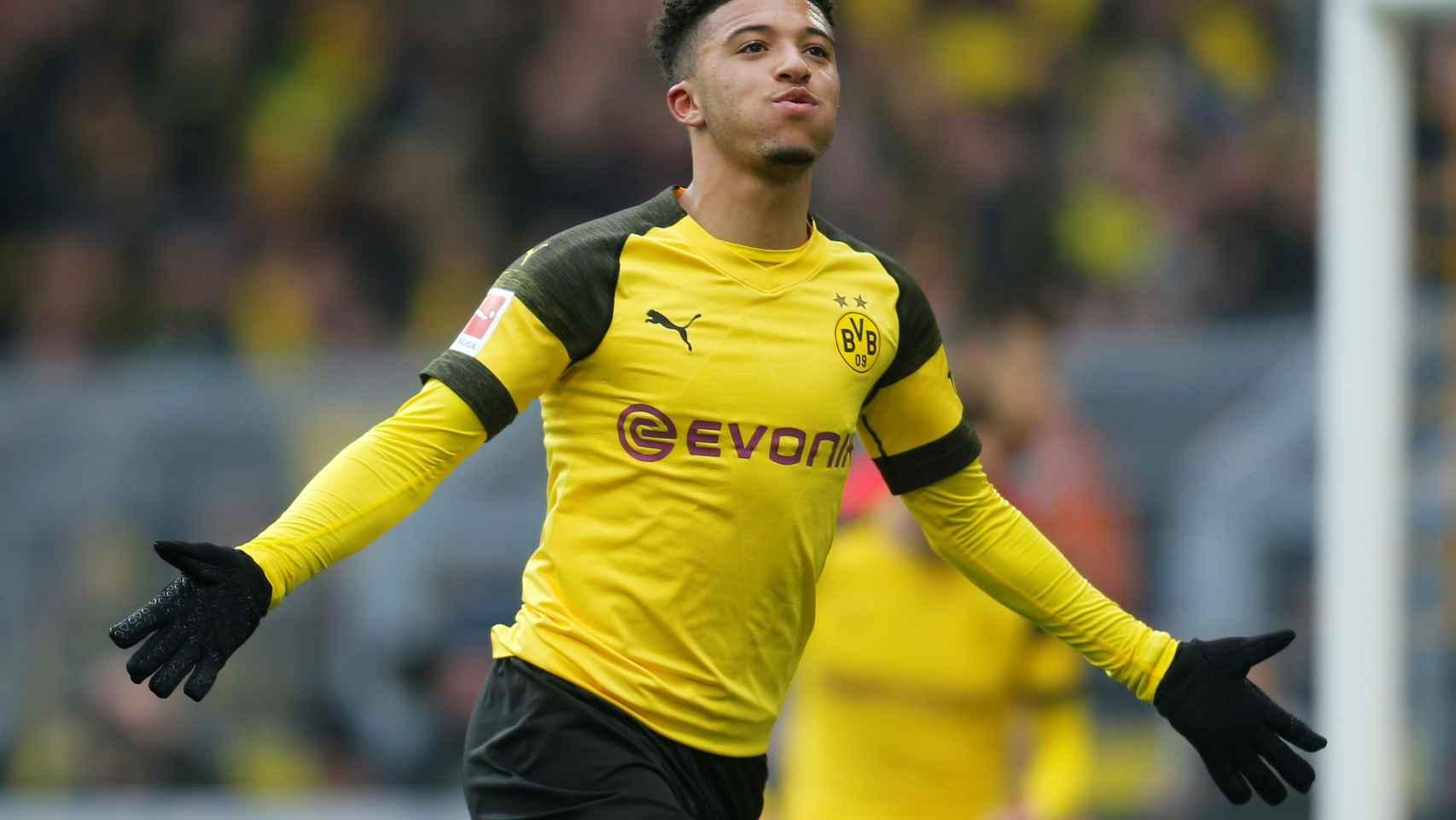 Jadon Sancho, en el Borussia Dortmund