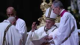 El Papa Francisco, en San Pedro del Vaticano.