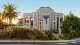 Imagen de la sinagoga de Poway, cerca de San Diego (California).