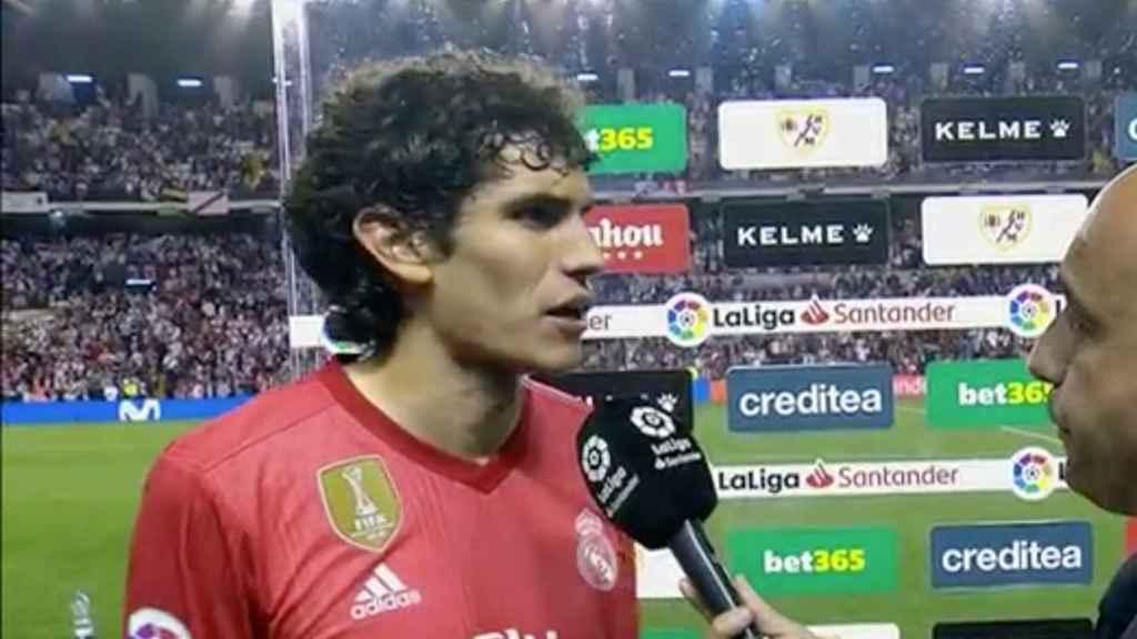 Jesús Vallejo tras el partido frente al Rayo Vallecano