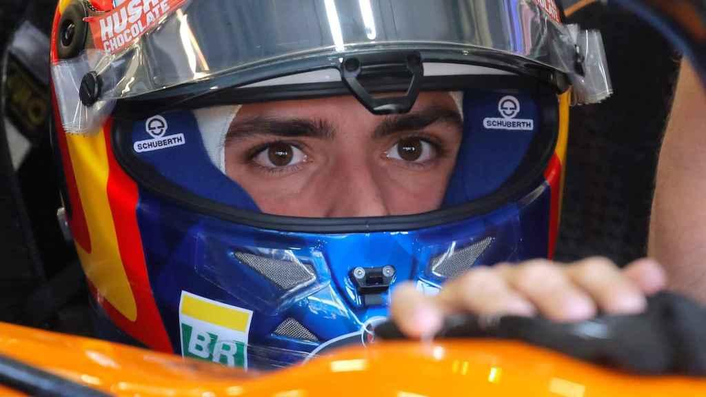 Carlos Sainz, en el Gran Premio de Azerbaiyán de Fórmula 1
