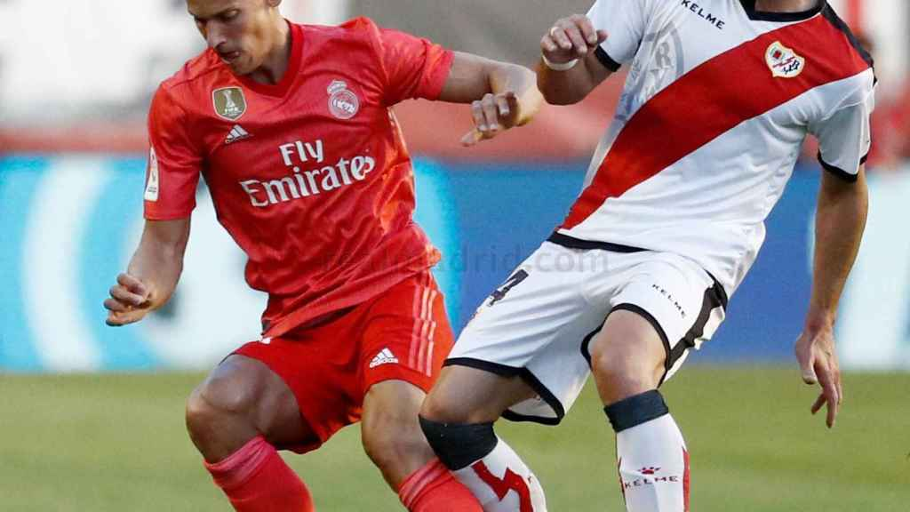 Marcos Llorente, en el Rayo Vallecano - Real Madrid