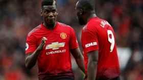 Pogba y Lukaku con el Manchester United