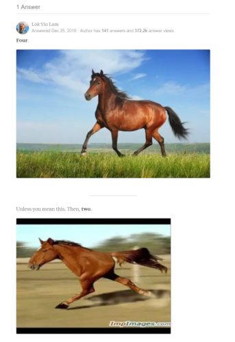 google caballo patas 6