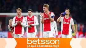 Jugadores del Ajax de Ámsterdam en la Champions League