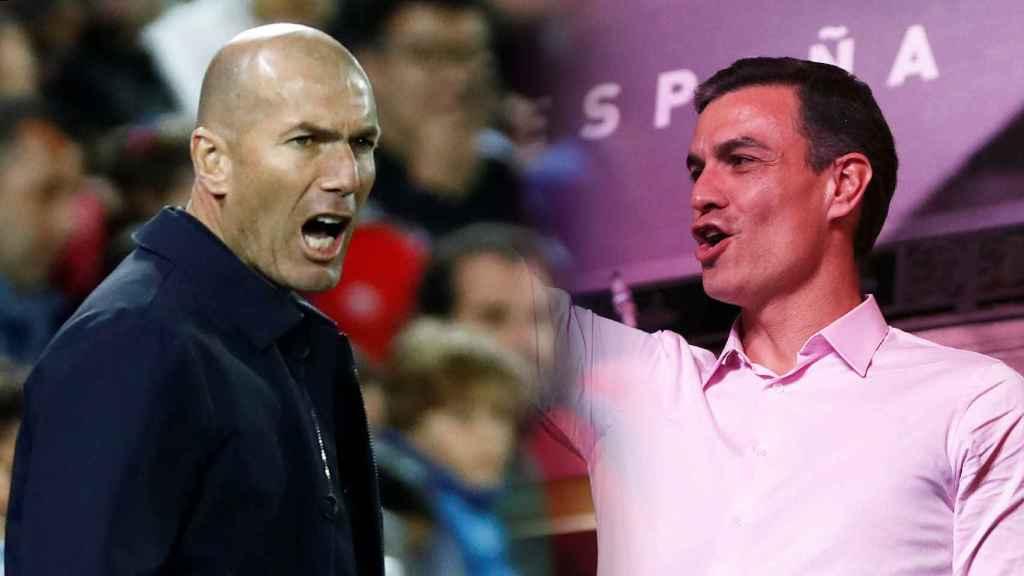Zinedine Zidane y Pedro Sánchez