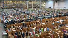 Imagen de archivo del centro logístico de Amazon en San Fernando de Henares.