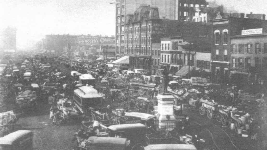 La plaza de Haymarket en 1892