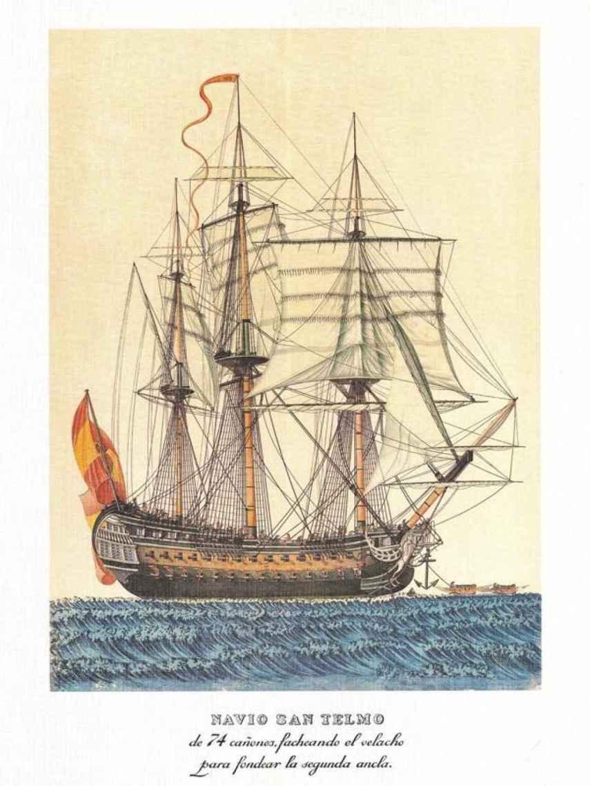 Ilustración del navío San Telmo.