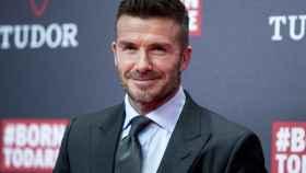 David Beckham durante el acto publicitario de la firma Tudor.