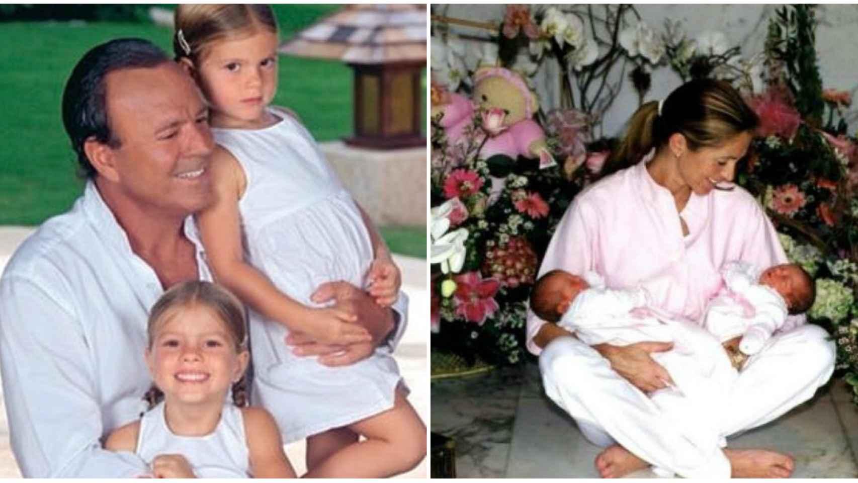 Julio Iglesias y Miranda con sus hijas.