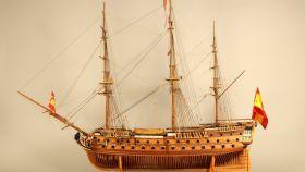 Maqueta del navío San Telmo.