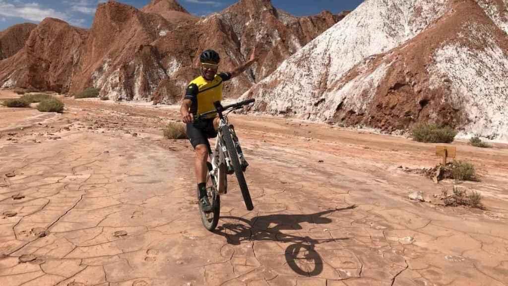 Óscar Pereiro, en el desierto