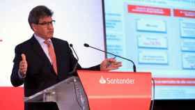 José Antonio Álvarez, CEO del Banco Santander, durante la presentación de resultados del 2019.