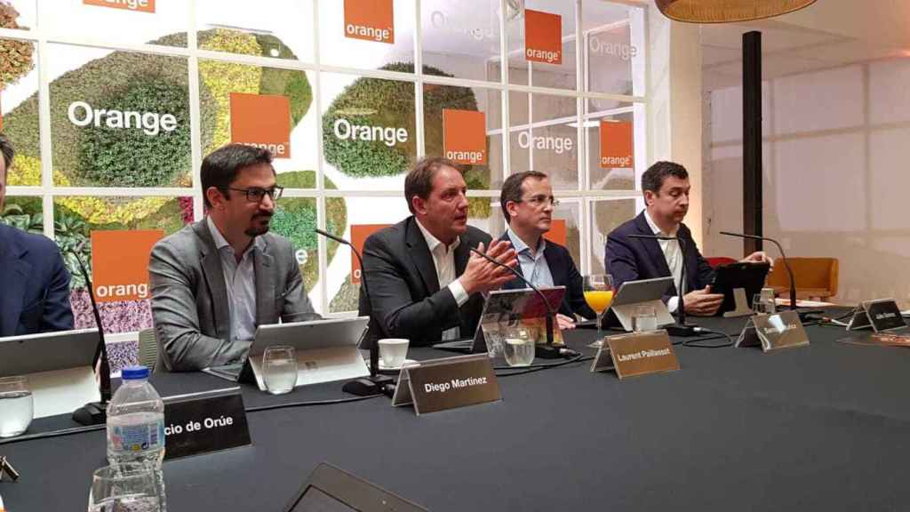 Equipo directivo de Orange en España, en una imagen de archivo.
