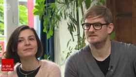 Floriane y Johannes en la entrevista de Radio Canada.