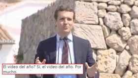 Pablo Casado cuando bromeaba sobre la 'cistitis' de Pedro Sánchez.