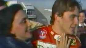Ayrton Senna junto a su madre