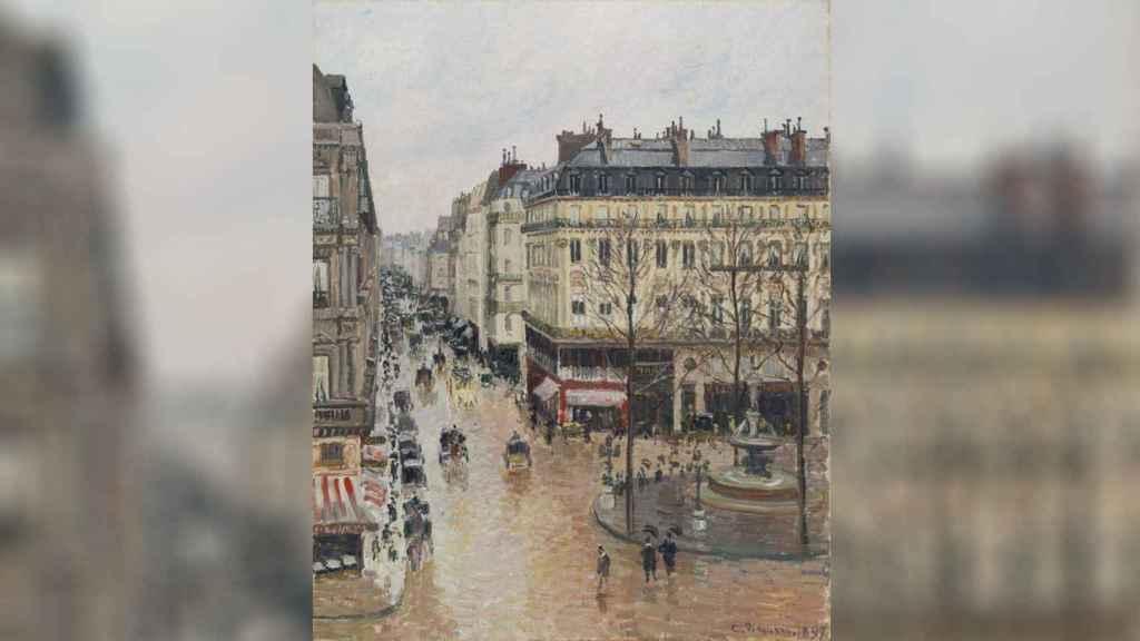 'Rue Saint-Honoré por la tarde. Efecto de lluvia' (Camille Pissarro).