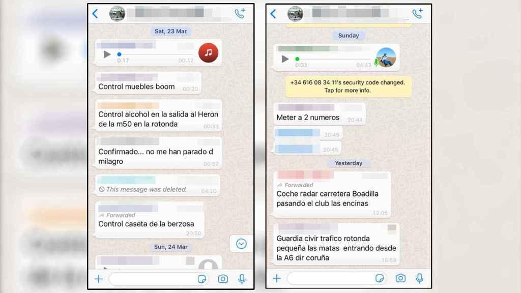 Los grupos de WhatsApp son otra forma de alertar a conductores por zonas geográficas.