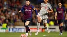 Messi y Fabinho en el Camp Nou