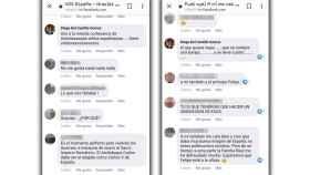 Comentarios en Facebook publicados por el candidato de Vox a Benidorm.
