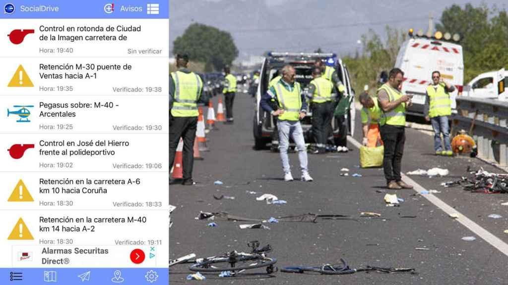 El peligro de las app que chivan los controles: la kamikaze de Gandia que atropelló ciclistas pudo usarla