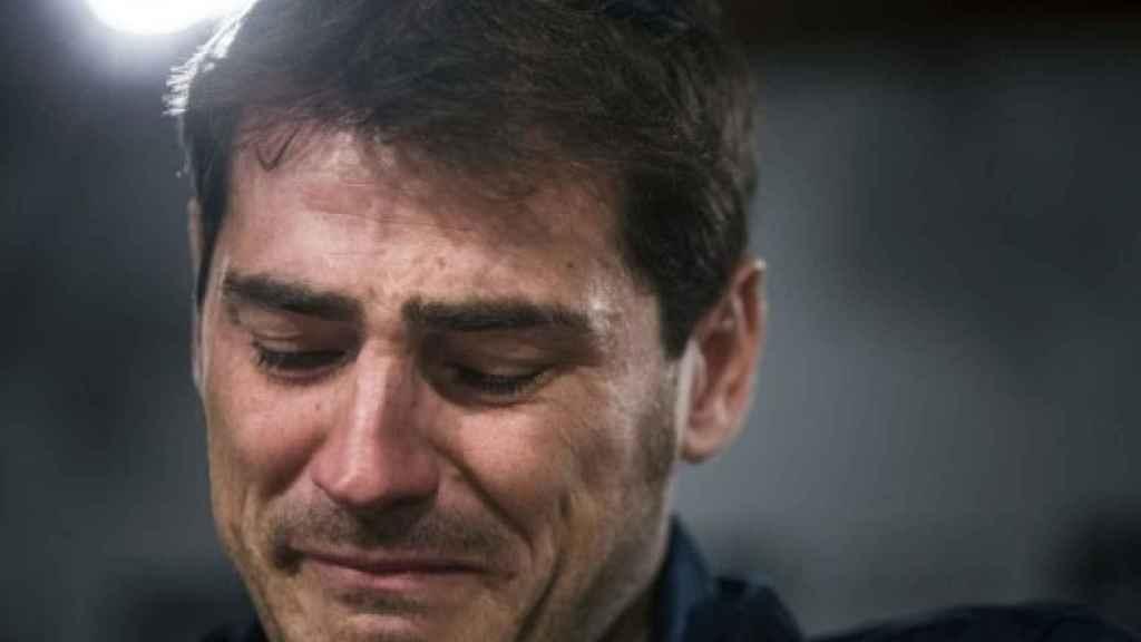 Iker Casillas el día que se despide del Real Madrid.