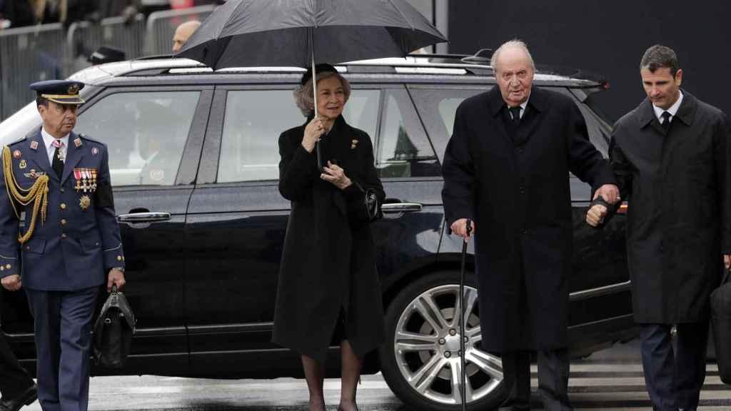 La reina Sofía y el rey Juan Carlos han querido estar presentes en el funeral de Juan de Luxemburgo.
