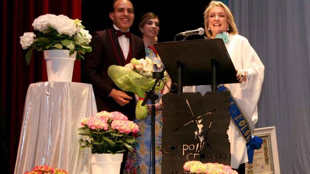 La periodista Esther Esteban, Molinera de Honor, durante su intervención.