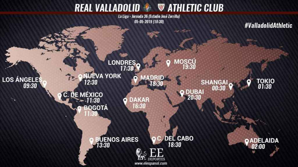 Horario Valladolid - Athletic