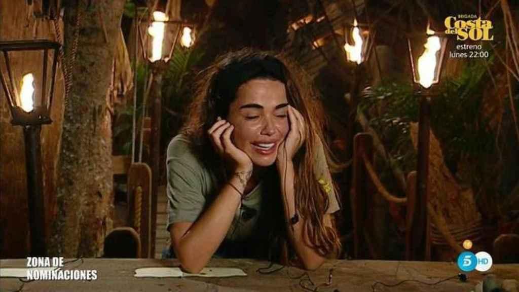 Violeta llorando en la última gala de 'Supervivientes'.