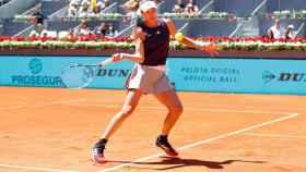 Garbiñe Muguruza, en el Mutua Madrid Open. Foto: Twitter (@MutuaMadridOpen)