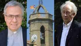 Joan Planellas, iglesia de Jafre, y Albert Boadella.