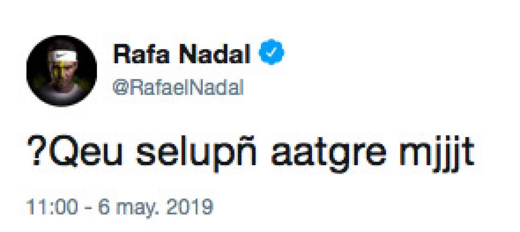 El tuit de Rafa Nadal que ha dejado a todo el mundo en shock