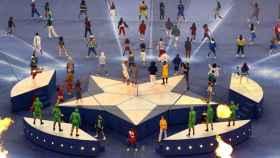 Ceremonia de la final de la Champions League