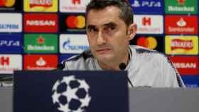 Ernesto Valverde, en rueda de prensa previa a la Champions League