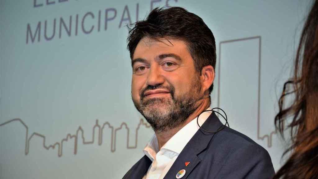 Carlos Sánchez Mato (IU), candidato de Madrid en Pie, al inicio del debate.
