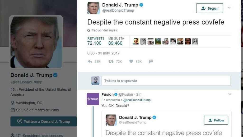 El mítico tuit de Trump.